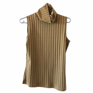 Beecher's Brook Tan turtleneck tank top